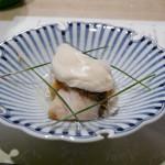 白茎芋と鯛の煮浸し 豆腐クリームチーズ鞍掛け
